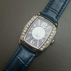 Avon Rhinestone Leather Watch
